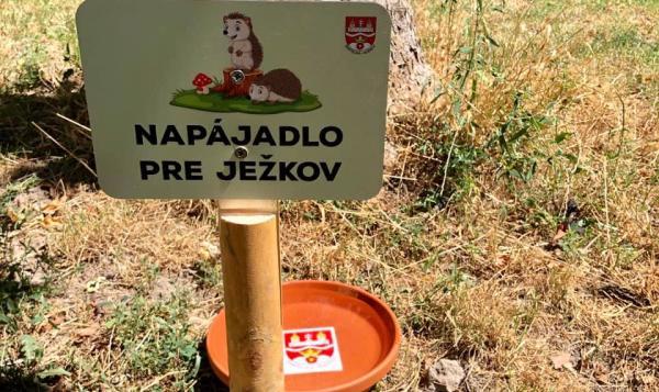 Vicestarosta Martin Patoprstý v spolupráci s poslancami MZ Vladimírom Sirotkom, Evou Bacigálovou a Silviou Pilkovou pripravili pevné napájadlá pre vtáčiky a ježkov.