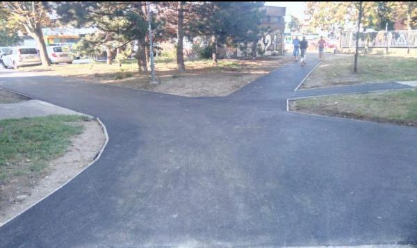 Opravené chodníky na Šalviovej a Seberíniho ulici, august 2020